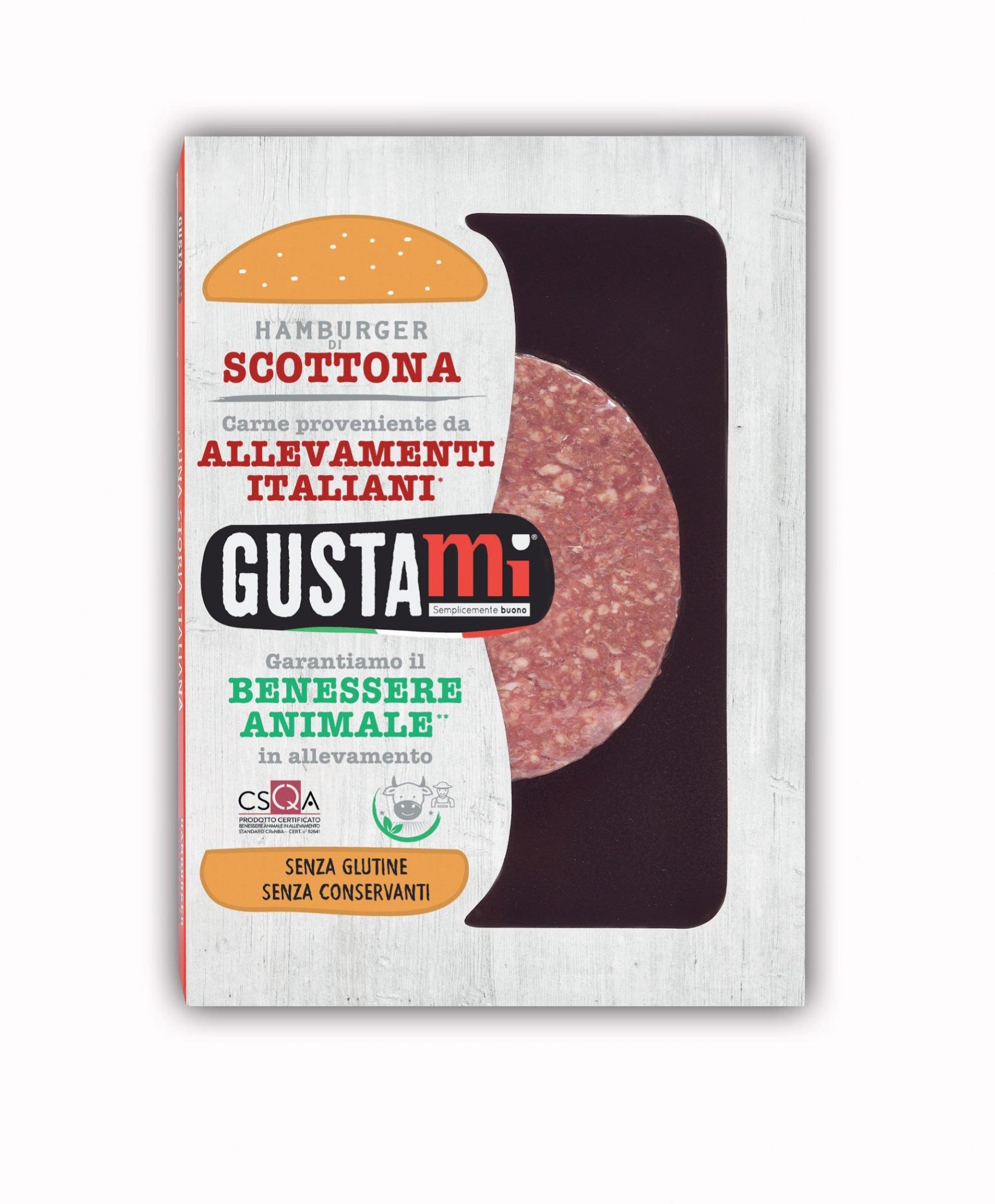 Hamburger di Scottona Gustami - confezione